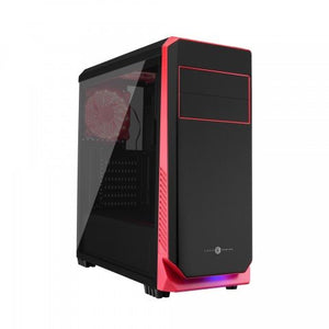 Circle Gaming Elegantor Gaming ATX Tower Case with Transparent Side Panel and Water Cooling Support (Black)