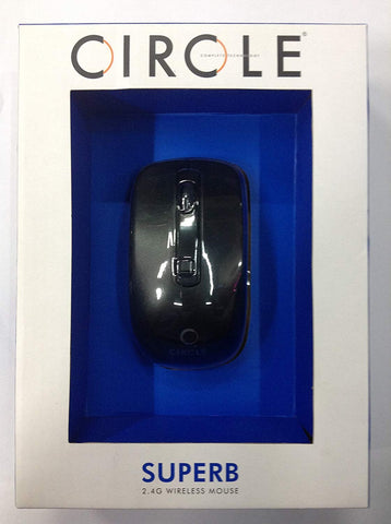 CIRCLE Superb 2.4 Wireless Mouse (Black) by CIRCLE