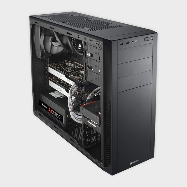 CORSAIR - CABINET (CC-9011041-WW) CARBIDE 200R WINDOWED BLACK Compact ATX Case