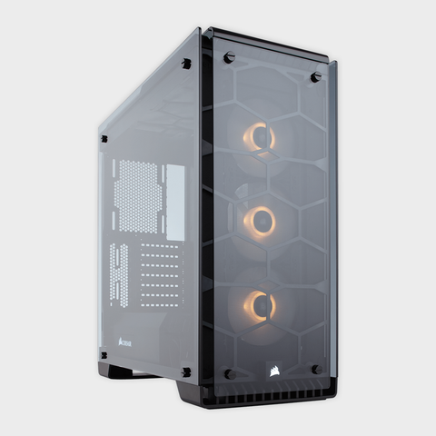 CORSAIR - CABINET (CC-9011097-WW) CRYSTAL SERIES 570X BLACK ATX MID TOWER
