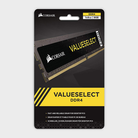 Corsair - Value Select 8GB Intel 7th Gen and AMD Ryzen PC Memory
