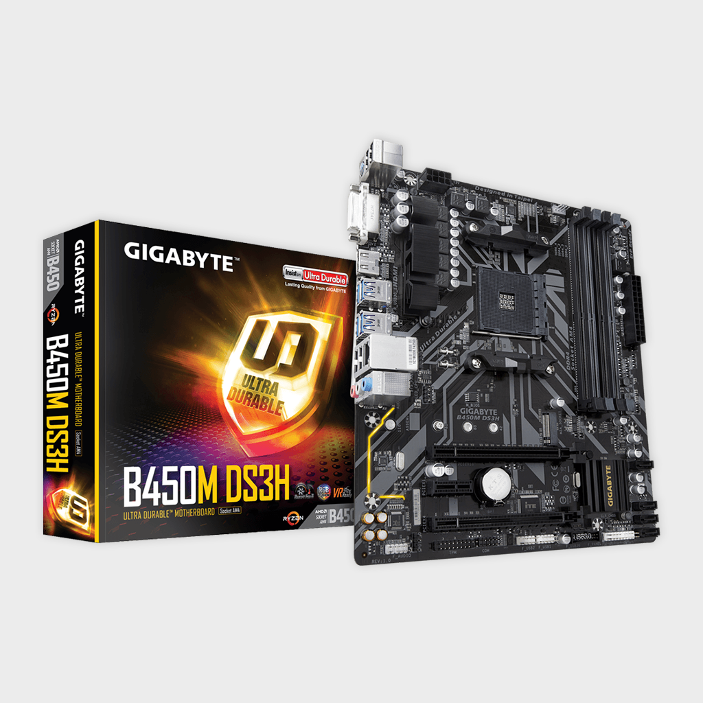 Gigabyte - AMD Socket AM4 B450M DS3H Motherboard