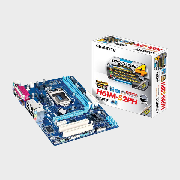Gigabyte - Intel Socket LGA1155 GA-H61M-S2PH Motherboard
