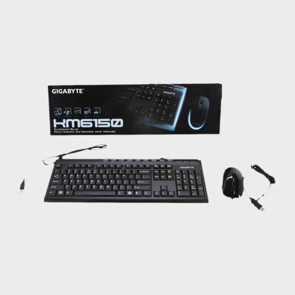 GIGABYTE - KM6150 Multimedia USB Keyboard And Mouse Combo