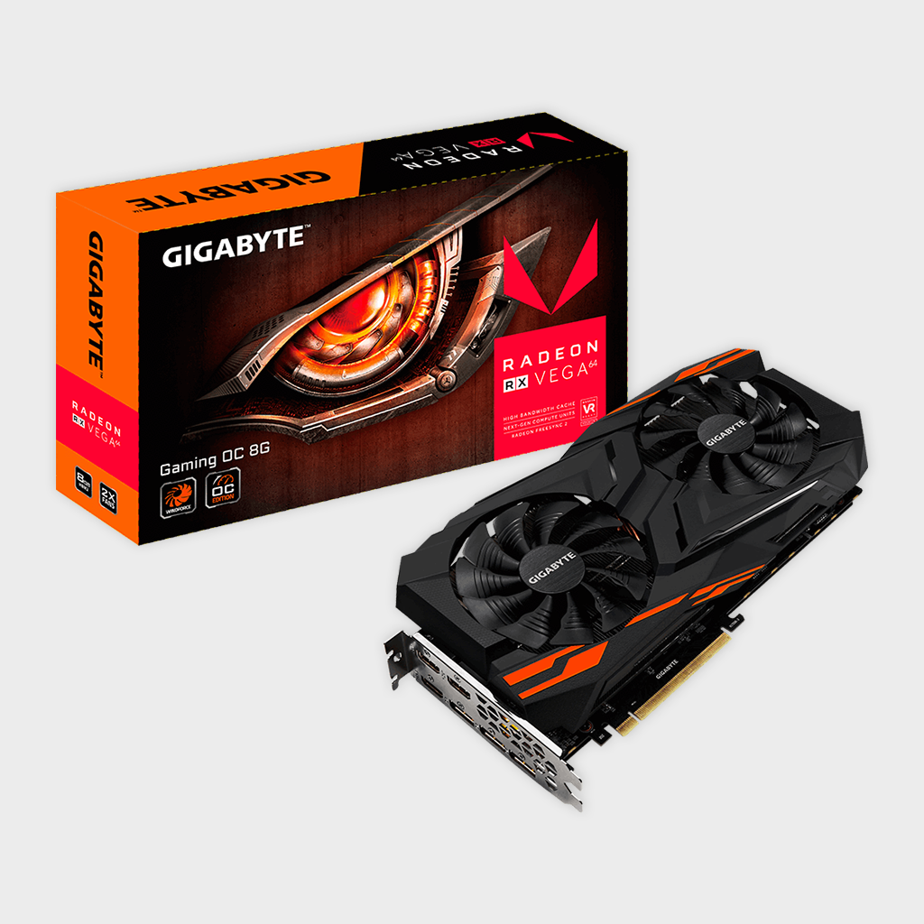 Gigabyte - Radeon™ RX VEGA 64 GAMING OC 8G Graphics Card