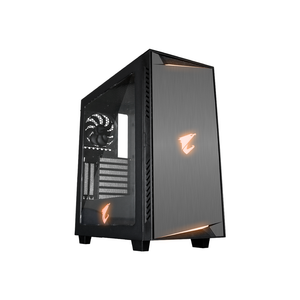 Gigabyte - ac300w (atx) mid tower cabinet - with transparent side panel (black)