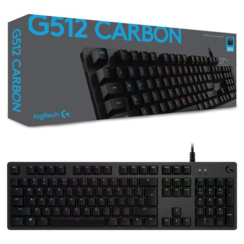 LOGITECH - G512 Carbon RGB Mechanical Keyboard( Tactile )