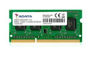 Adata-8GB DDR3 1600MHZ Laptop Ram Memory Module (SO-DIMM) PC3L-12800