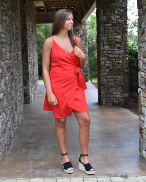 Adeline Wrap Dress | Cayman & Co. Boutique