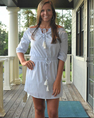 Belle Tassel Tie Dress  | Cayman & Co. Boutique