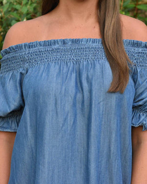 Chayse Off-Shoulder Dress  | Cayman & Co. Boutique