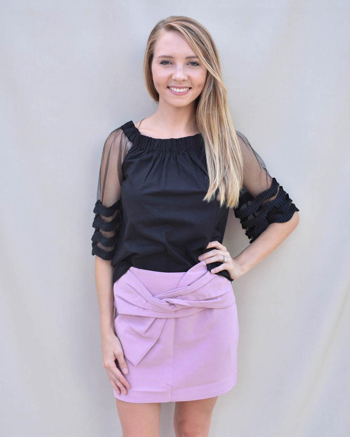 Chelsea Bow Mini Skirt  | Cayman & Co. Boutique