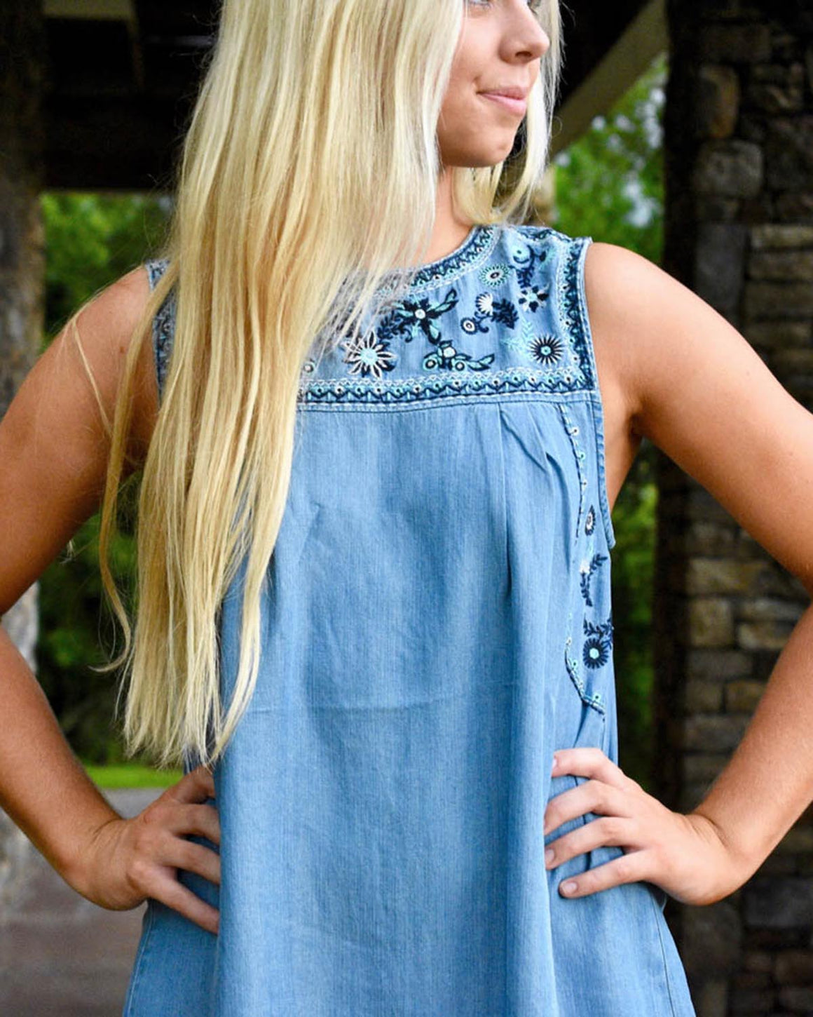 Grayson Embroidered Dress  | Cayman & Co. Boutique
