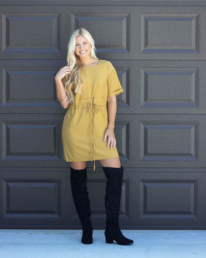 Business Casual Dress, Mustard