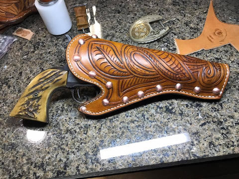 Cowboy Holster, Western Holster, Leather, Hand Tooled, Colt Single Action
