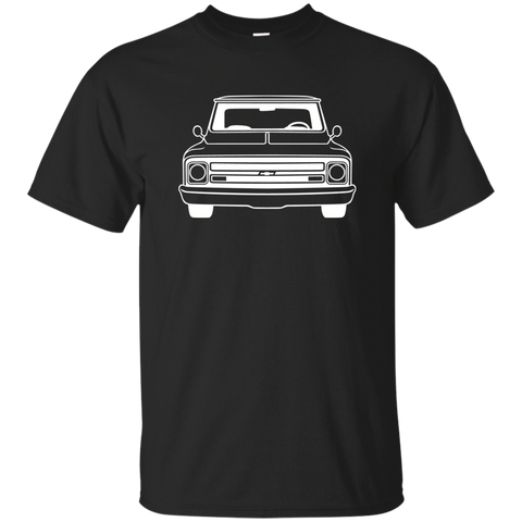 Chevy C10 67-68 Black Short Sleeve - C10 G200 Gildan Ultra Cotton T-Shirt