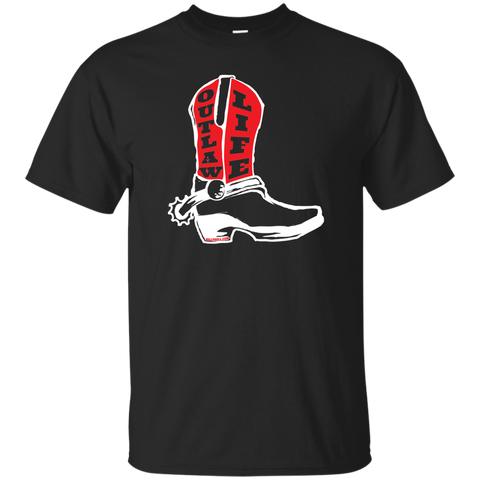 RDR2 Inspired Western T Shirts - Outlaw Life Boot