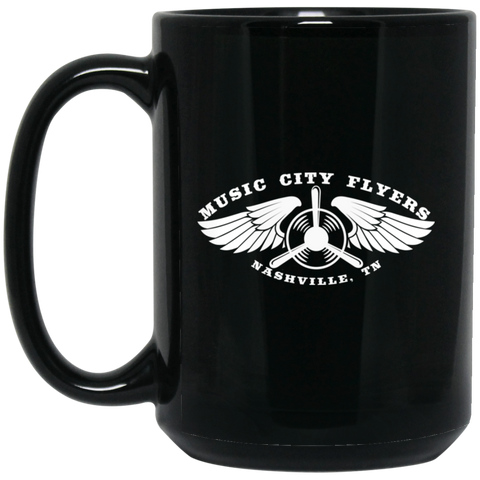 Music City Flyers 15 oz. Black Mug