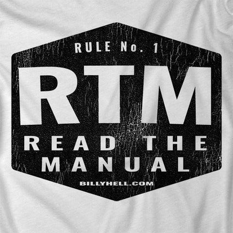 RTM - Read the Manual!