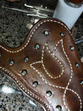 Rustic Cowboy Holster, Western Holster, Texas, Hand Tooled, Colt Single Action