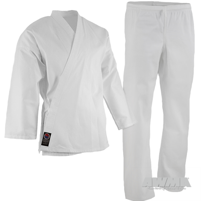 Full Karate Gi - Elastic Drawstring - 6oz