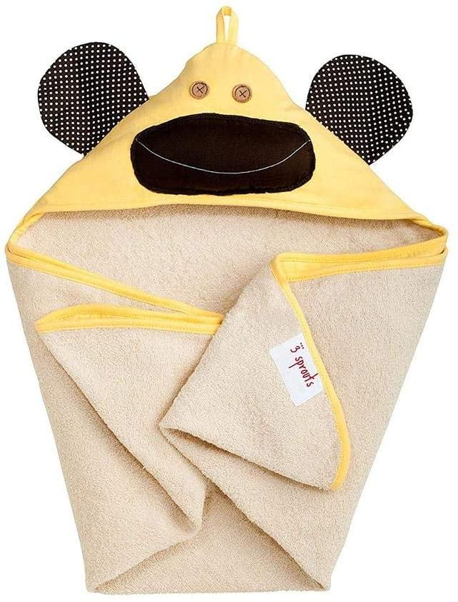 3 Sprouts Hooded Towel - Monkey