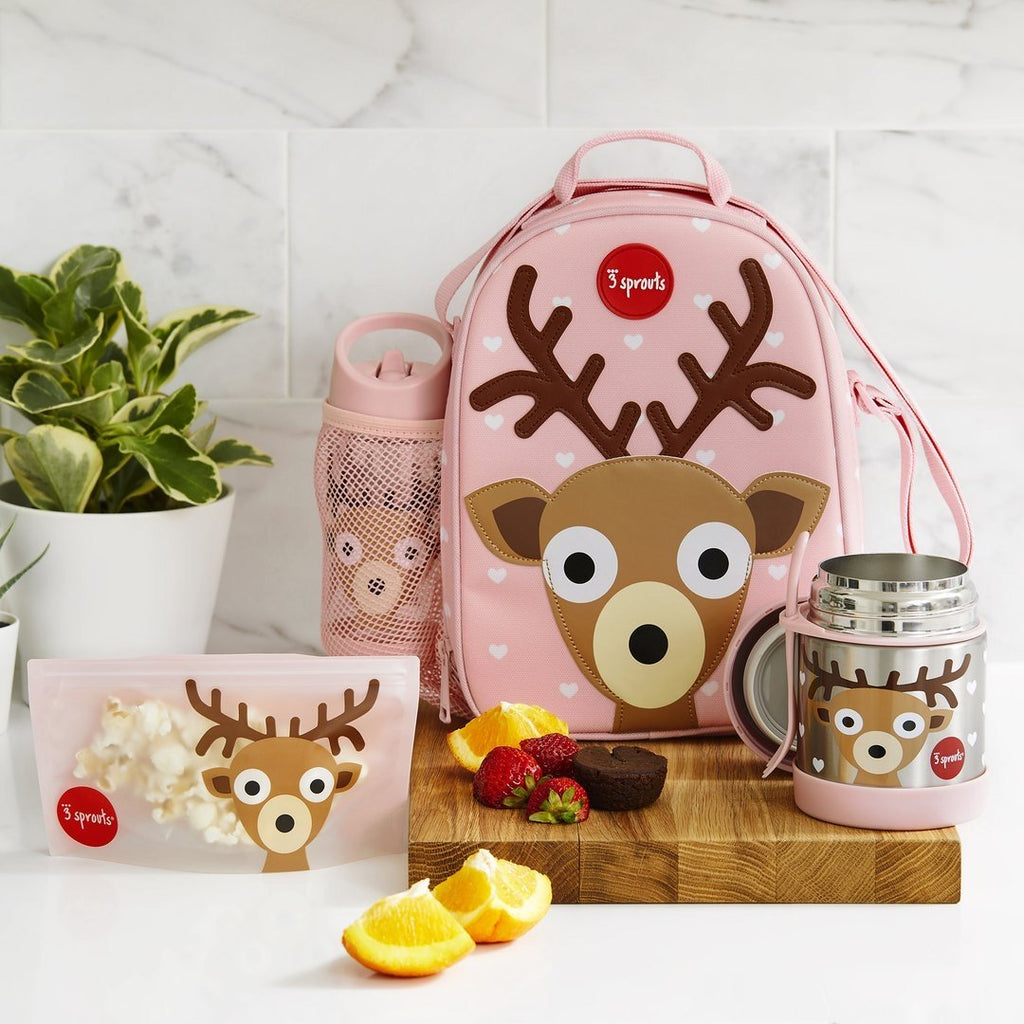 3 Sprouts Lunch Bag - Deer