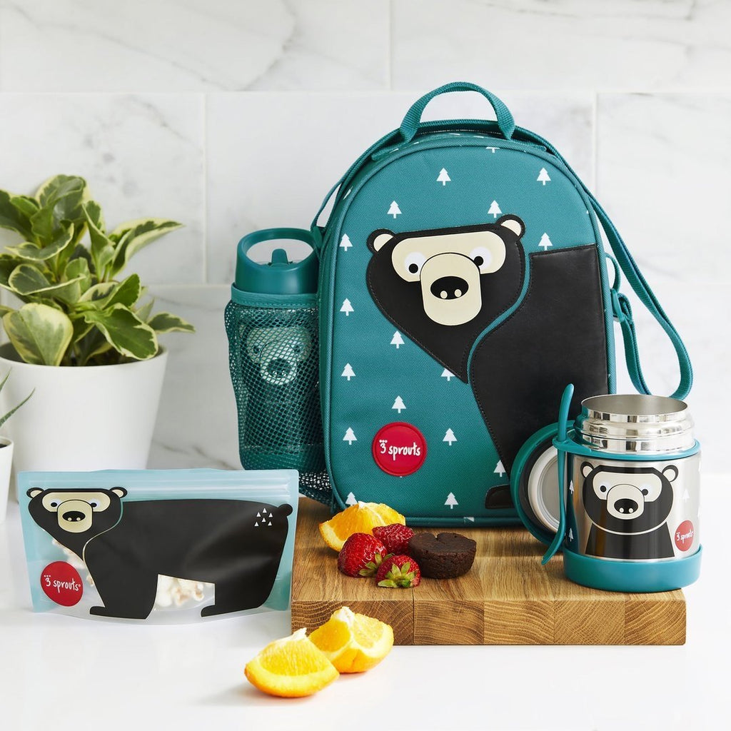3 Sprouts Sandwich Bag - Bear (2 pack)