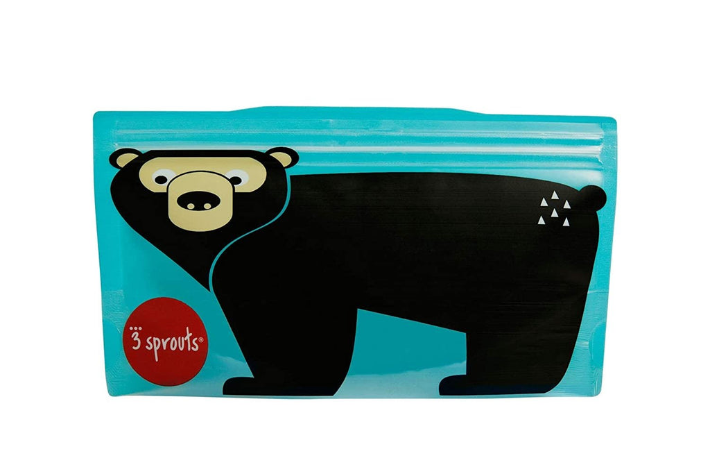 3 Sprouts Snack Bag 2 Pack - Bear