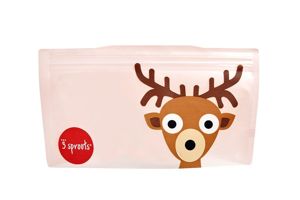 3 Sprouts Snack Bag 2 Pack - Deer
