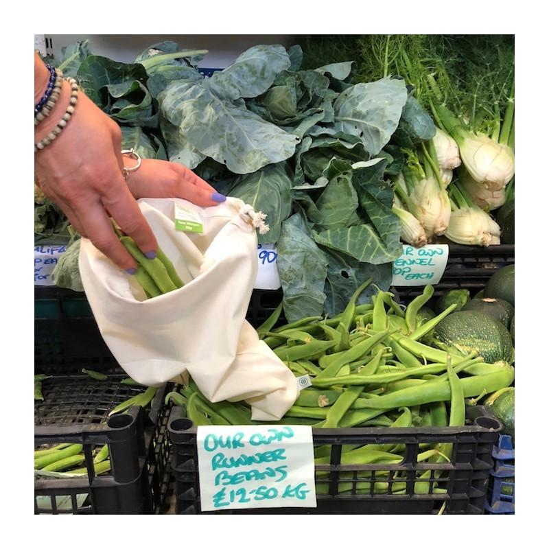 A Slice of Green - 3 Pack Organic Cotton Produce Bag