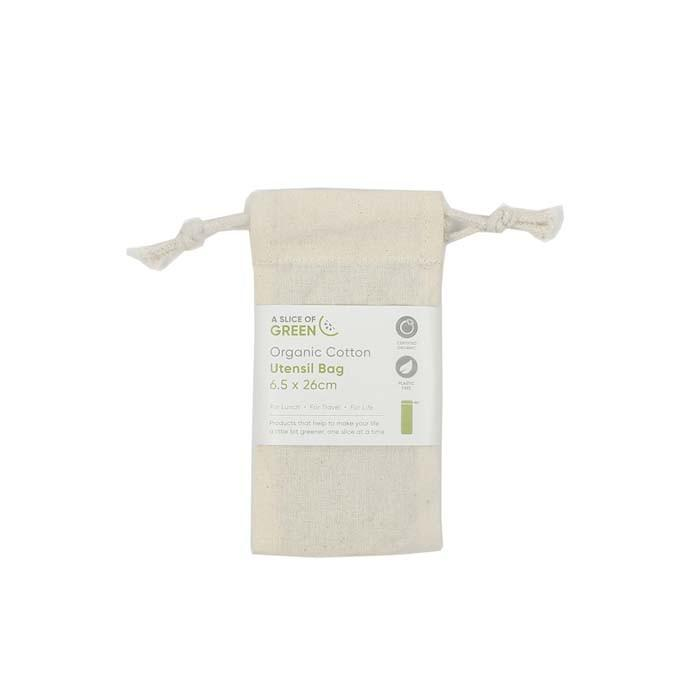 A Slice of Green - Organic Cotton Utensil Bag