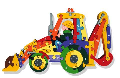 Alphabet Jigsaws - Alphabet Backhoe