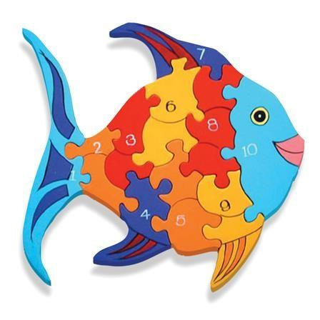 Alphabet Jigsaws - Number Fish