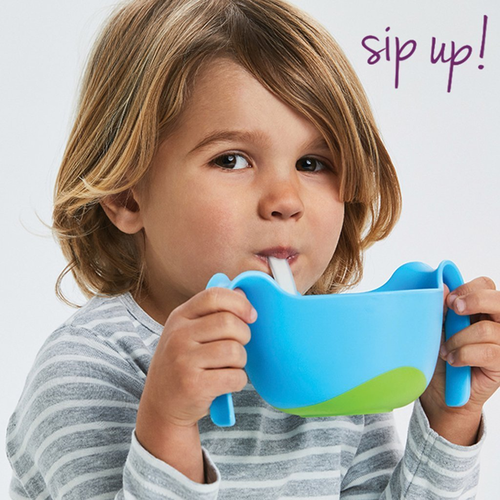 B.box kids xl snack bowl and straw