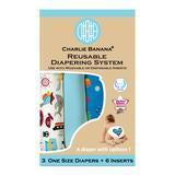 charlie banana cloth nappy 3 pack oceana