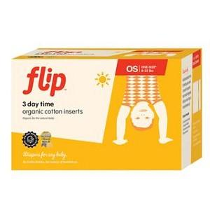 Flip cloth nappy organic cotton day insert 3 pack