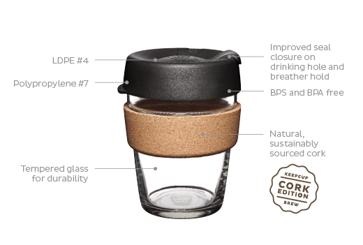 keepcup brew with Cork band