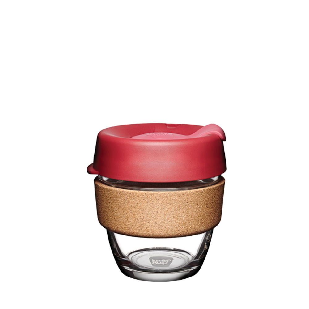 keepcup brew with Cork band 8oz red lid