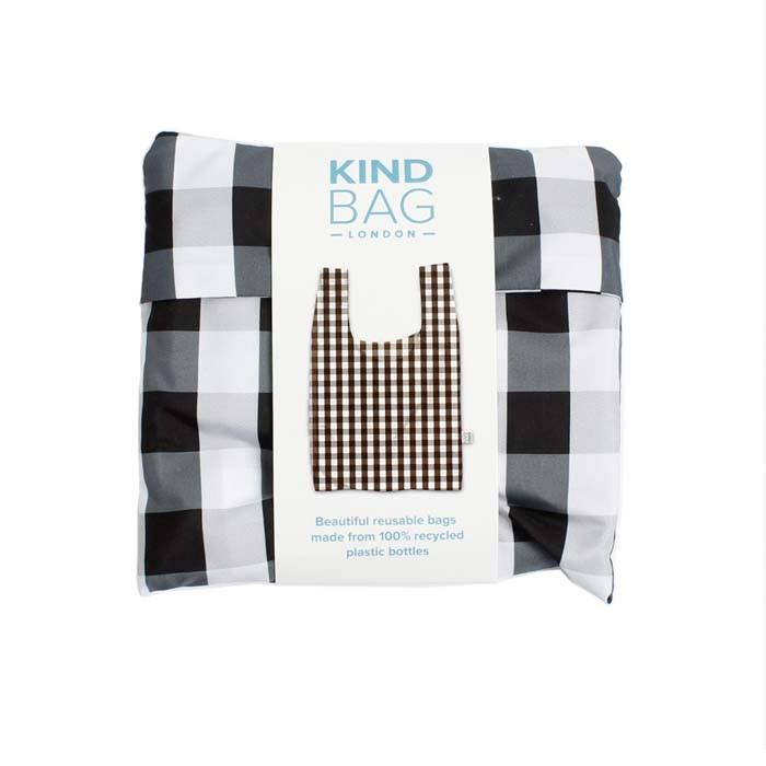KIND BAG - Gingham Reusable Shopping Bag