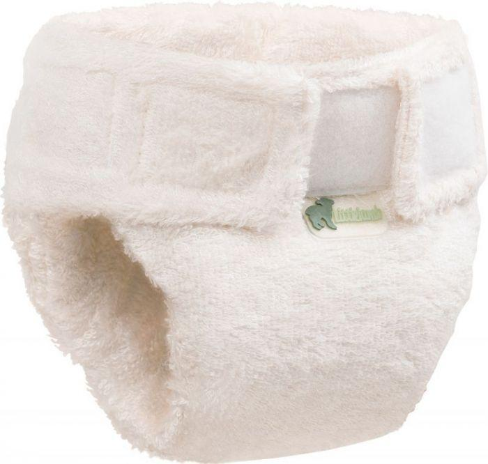 little lamb bamboo fitted cloth nappy for night time