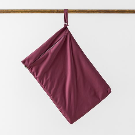 Little lamb nappies large hanging wet bag Aubergine