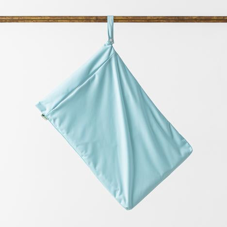 Little lamb nappies large hanging wet bag baby blue