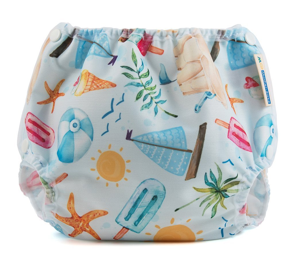 Motherease airflow cloth nappy cover small just beachy