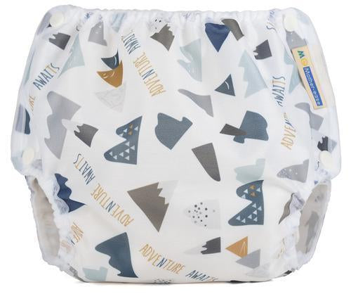 Motherease airflow cloth nappy cover small mountains
