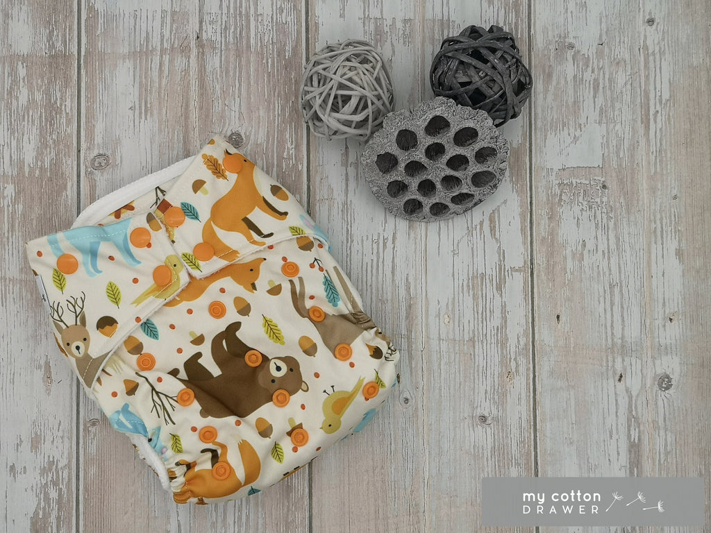 My Cotton Drawer - Bamboo Pocket Cloth Nappy - Bear Necessities