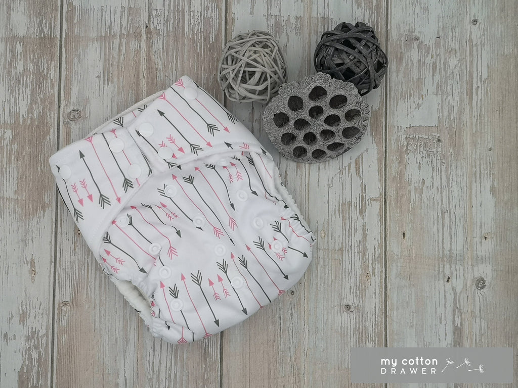 My Cotton Drawer - Bamboo Pocket Cloth Nappy - Cupids Arrow