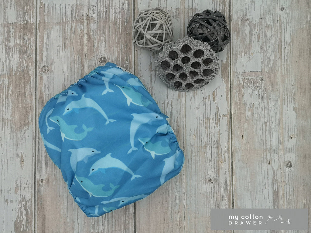 My Cotton Drawer - Bamboo Pocket Cloth Nappy - Dusty and Funghi