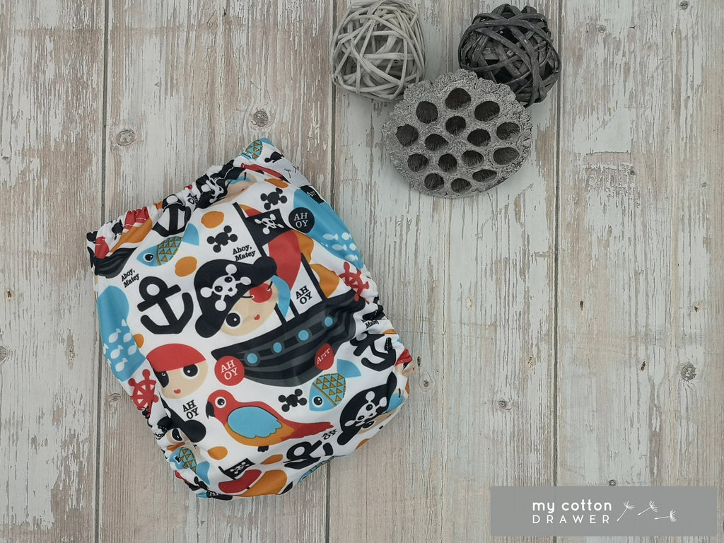 My Cotton Drawer - Bamboo Pocket Cloth Nappy - Jolly Roger