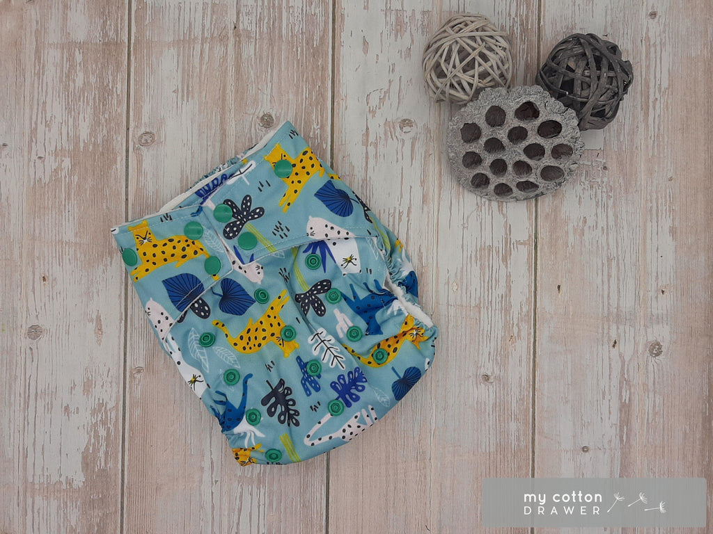 My Cotton Drawer - Bamboo Pocket Cloth Nappy - Leopards Spots